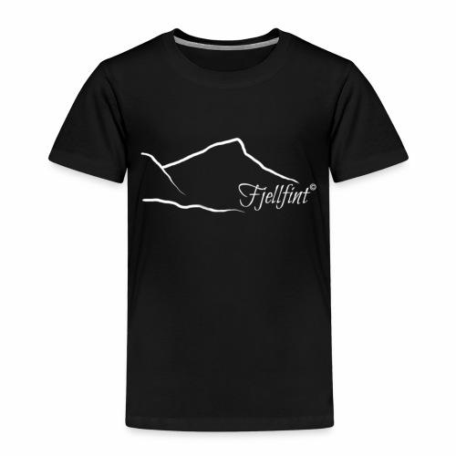 Hvit rektangulær logo - Premium T-skjorte for barn
