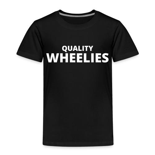 Quality Wheelies Hoodie Front - Premium T-skjorte for barn