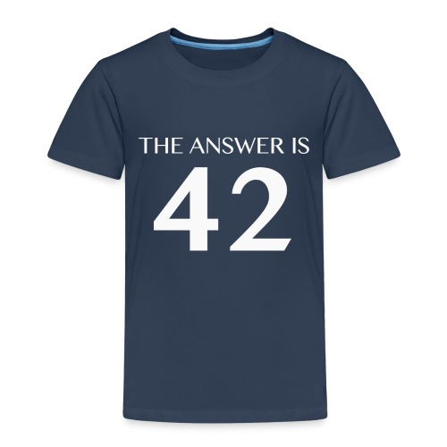 The Answer is 42 White - Kids' Premium T-Shirt