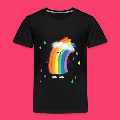 Rudi Regenbogen bunte Regentropfen - Kinder Premium T-Shirt