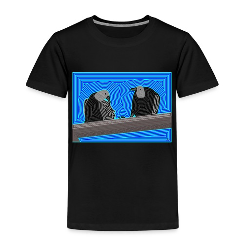 Aves en lineas - Camiseta premium niño