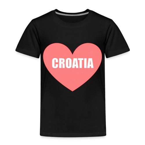 Kroatien_Design_Herz - Kinder Premium T-Shirt