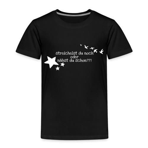 Nur für wahre Stofffreaks ... GrinseSternStoffShi - Kinder Premium T-Shirt