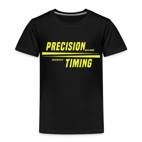 PRECISION & TIMING - Børne premium T-shirt