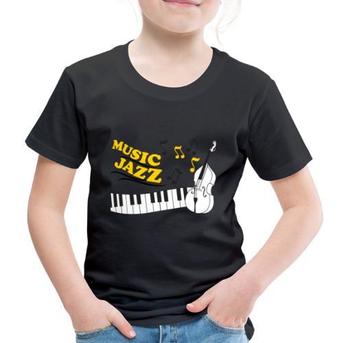 music jazz con piano e contrabbasso - Maglietta Premium per bambini