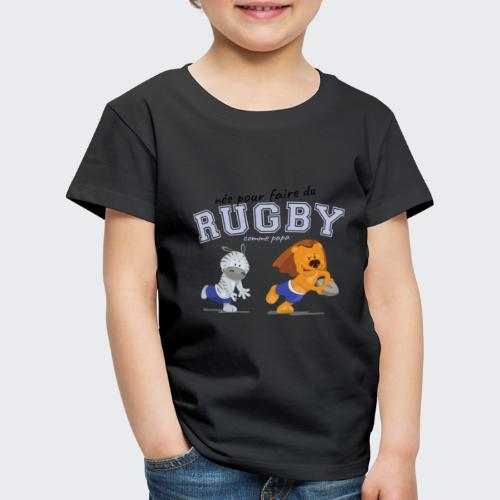 rugby_comme_papa - T-shirt Premium Enfant