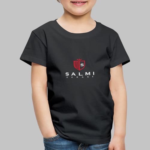 Salmi Garage Logo (Valkoinen Pysty) - Lasten premium t-paita