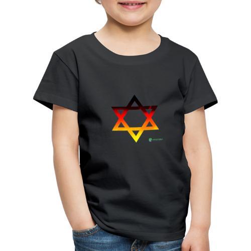 deutschland davidstern transparent - Kinder Premium T-Shirt