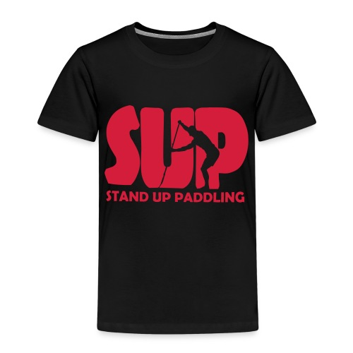 Stand Up Paddling Silouette - Kinder Premium T-Shirt