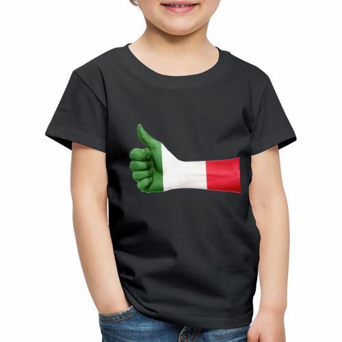 Italienische Flagge auf Daum - Kinder Premium T-Shirt