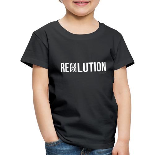 REVOLUTION or RESOLUTION - Maglietta Premium per bambini