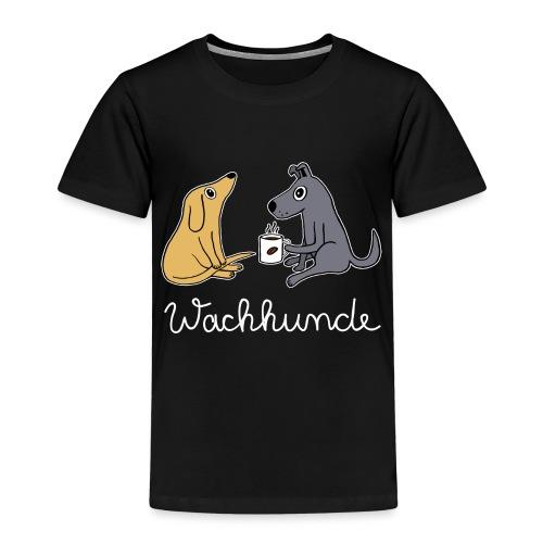 Wachhund trinkt Kaffee Koffein weckt müde Hunde - Kinder Premium T-Shirt