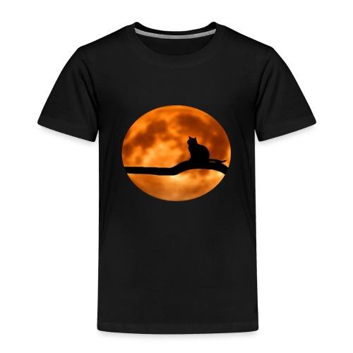 Katze mond silouette - Kinder Premium T-Shirt