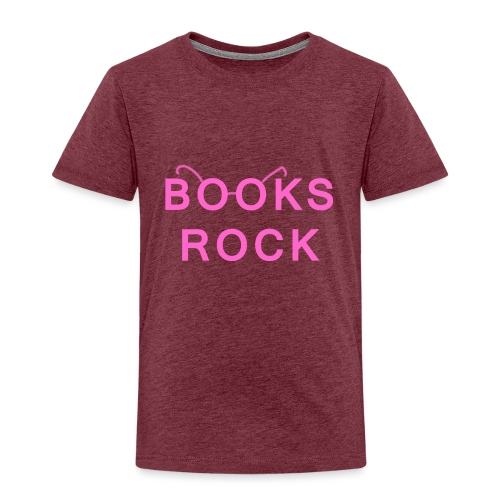 Books Rock Pink - Kids' Premium T-Shirt