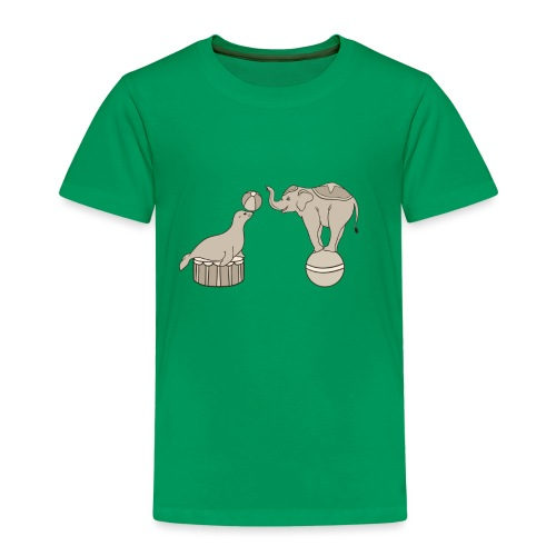 Circus elephant and seal - Kids' Premium T-Shirt