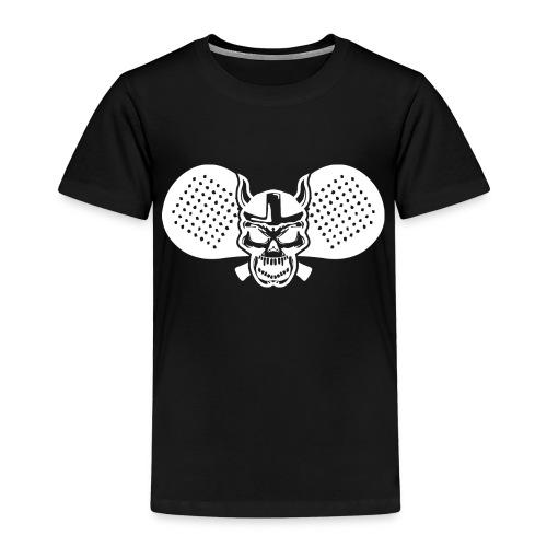 Calavera vikinga padel bl - Camiseta premium niño