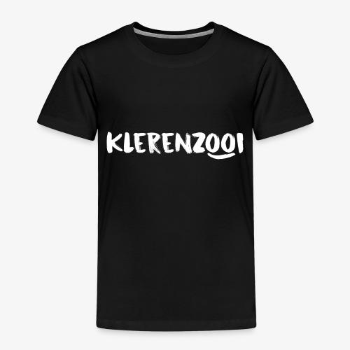 Zwarte kindercollectie met wit Klerenzooi logo - Kinderen Premium T-shirt