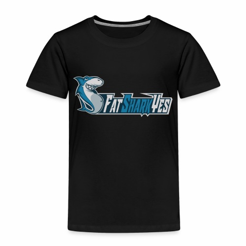 FatSharkYes logo+text - Premium-T-shirt barn