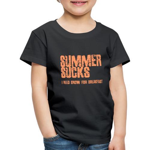 SUMMER SUCKS - Kinderen Premium T-shirt