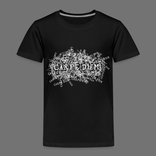 carpe diem (hvid) - Børne premium T-shirt