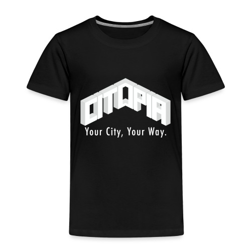 Logo with Slogan - Kids' Premium T-Shirt