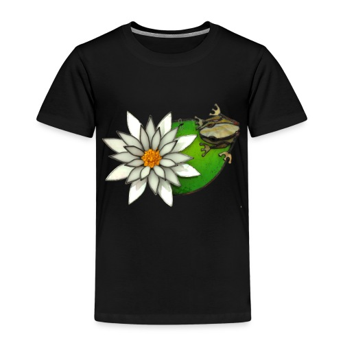 frog on a lilly pad - Kids' Premium T-Shirt