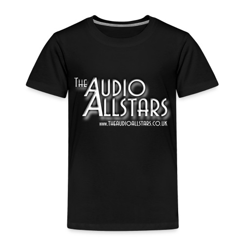 The Audio Allstars logo white - Kids' Premium T-Shirt