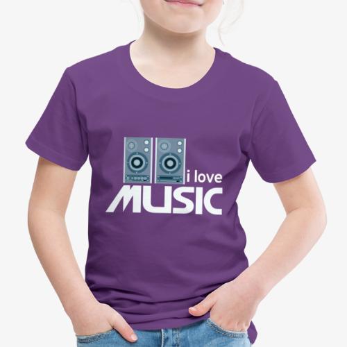 Amo la música 02 - Camiseta premium niño