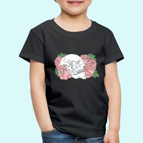 skull et fleurs - T-shirt Premium Enfant