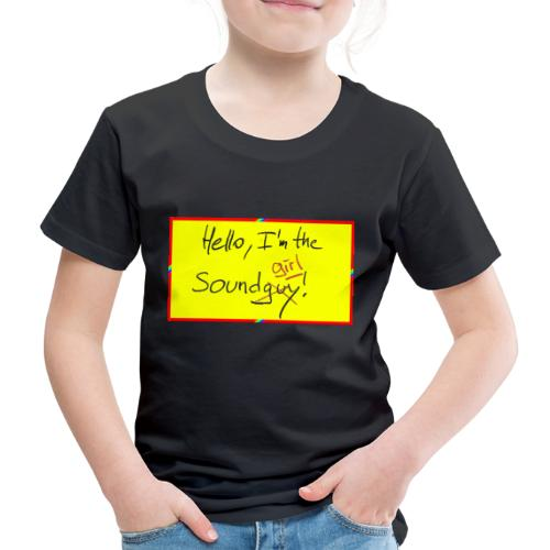 hello, I am the sound girl - yellow sign - Kids' Premium T-Shirt