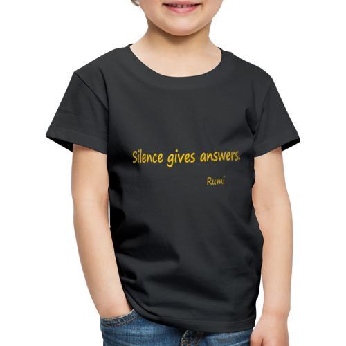 Silence - Kids' Premium T-Shirt