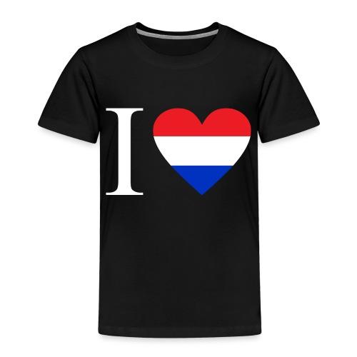 Ik hou van Nederland | Hart met rood wit blauw - Kinderen Premium T-shirt