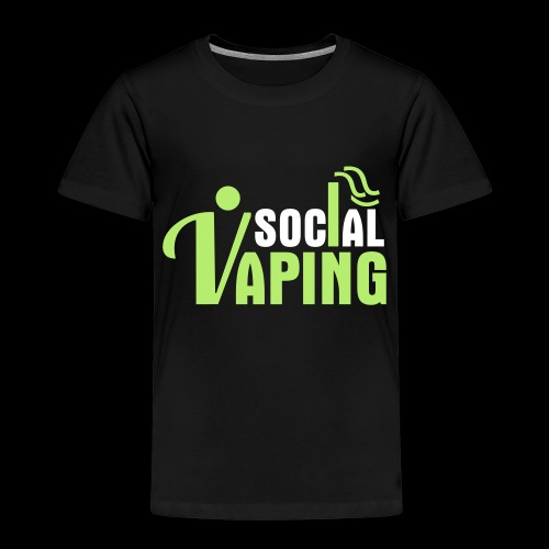 SOCIAL VAPING LOGO - Kids' Premium T-Shirt