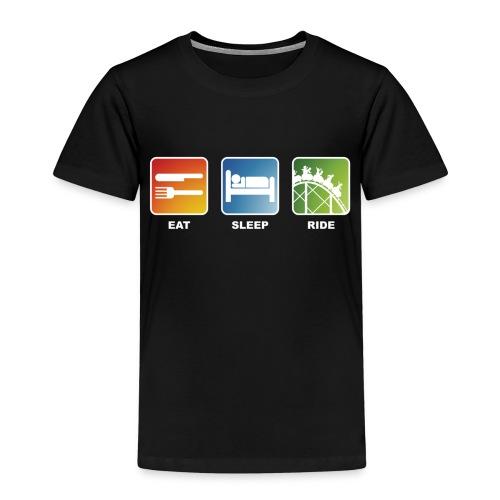 Eat, Sleep, Ride! - T-Shirt Schwarz - Kinder Premium T-Shirt