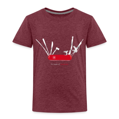 In case of zombies - Kinder Premium T-Shirt