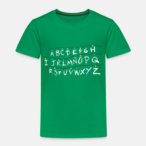 Stranger Things Alphabet - Kinder Premium T-Shirt