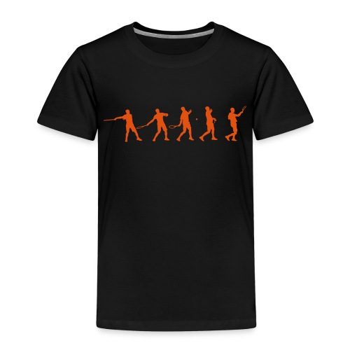 Tennis Forehand Stages - Kids' Premium T-Shirt