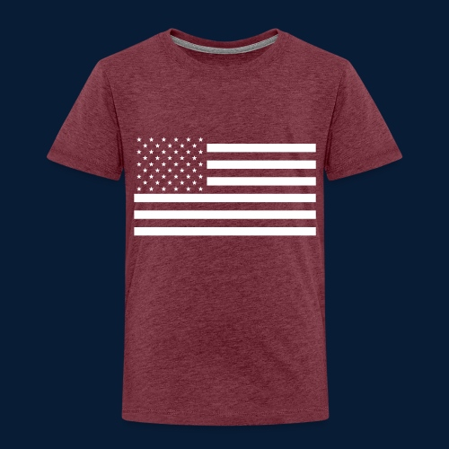 Stars and Stripes White - Kinder Premium T-Shirt