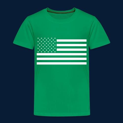 Stars and Stripes White - Kinder Premium T-Shirt