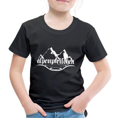 Alpenpfeilchen - Logo - white - Kinder Premium T-Shirt