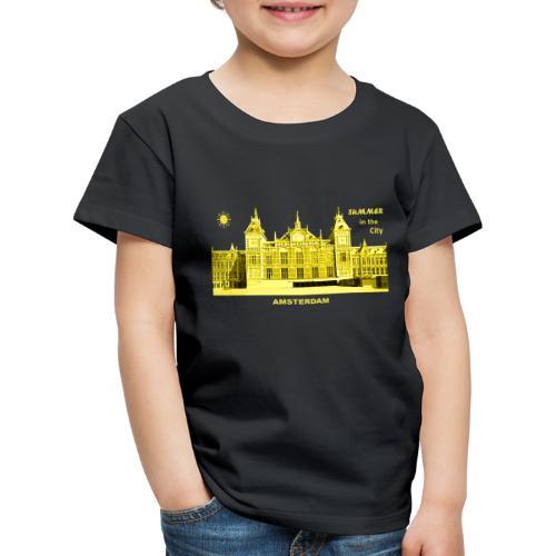 Summer Amsterdam City Bahnhof Niederlande Sommer - Kinder Premium T-Shirt