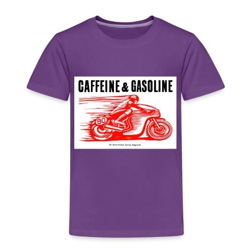 Caffeine & Gasoline black text - Kids' Premium T-Shirt