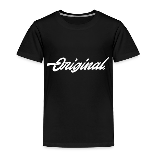 Original Lettering [White] - Kids' Premium T-Shirt