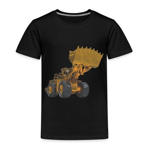 Old Mining Wheel Loader - Yellow - Kids' Premium T-Shirt