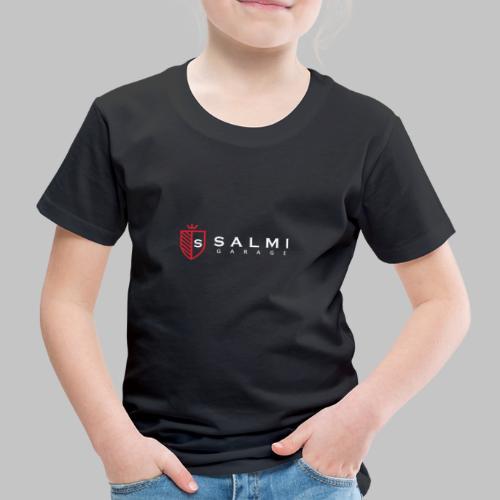 Salmi Garage Logo (Valkoinen Vaaka) - Lasten premium t-paita