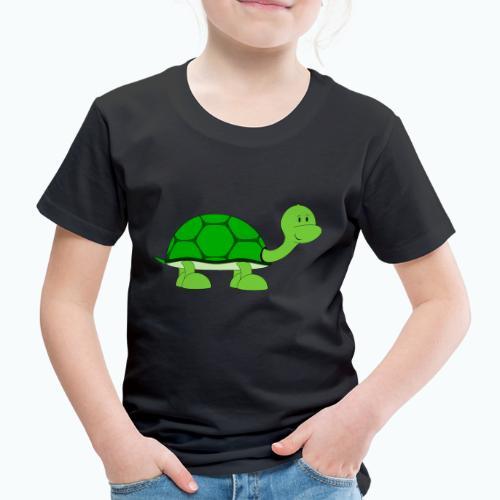 Totte Turtle - Appelsin - Premium-T-shirt barn