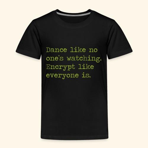 dancing and encrypting - Premium-T-shirt barn