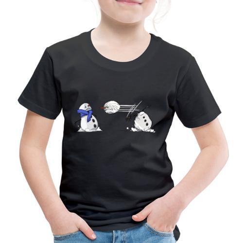 Bataille de boules de neige - T-shirt Premium Enfant