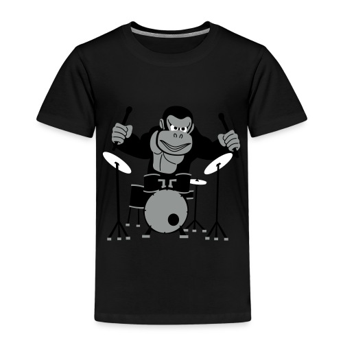 Drumming Gorilla - Kids' Premium T-Shirt