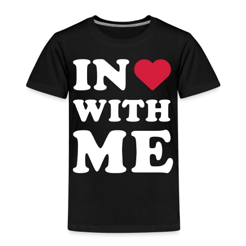 Schriftzug in <3 with me - Kinder Premium T-Shirt